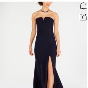 Vince Camuto Notched Sleeveless Trumpet Gown